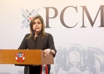 Mercedes Aráoz convocó a un dialogo profundo entre el gobierno y el Legislativo.