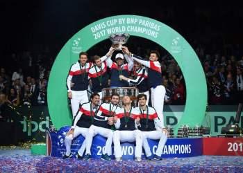 La selección de tenis de Francia levanto la Copa Davis en el 2017.