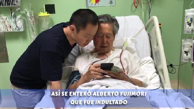 Alberto Fujimori se enteró así de indulto