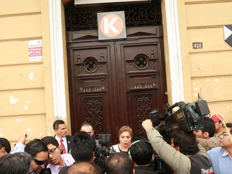 Local allanado de Fuerza Popular en Lima
