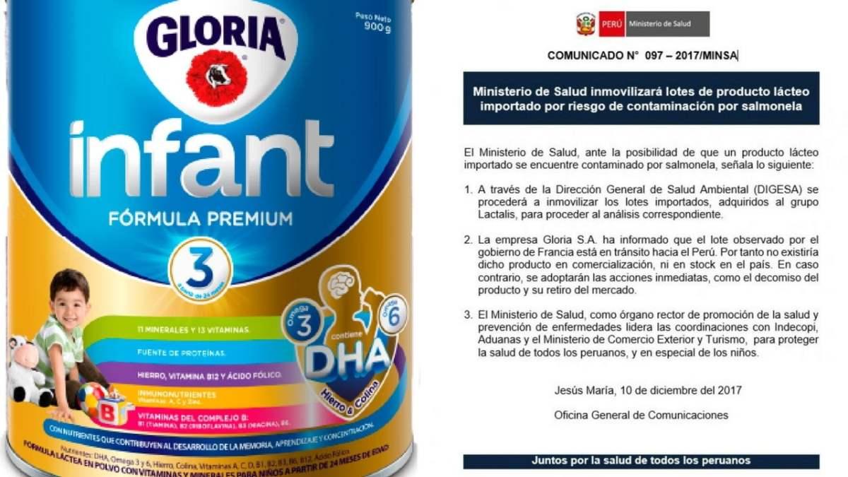 Minsa inmovilizará leche infantil contaminada con salmonella