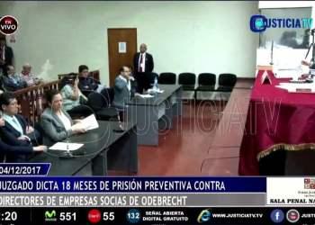 Juez dicta 18 meses de prisión preventiva contra empresarios por caso Odebrecht