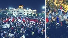 Marcha contra indulto a Fujimori culmina con mitin en plaza San Martín