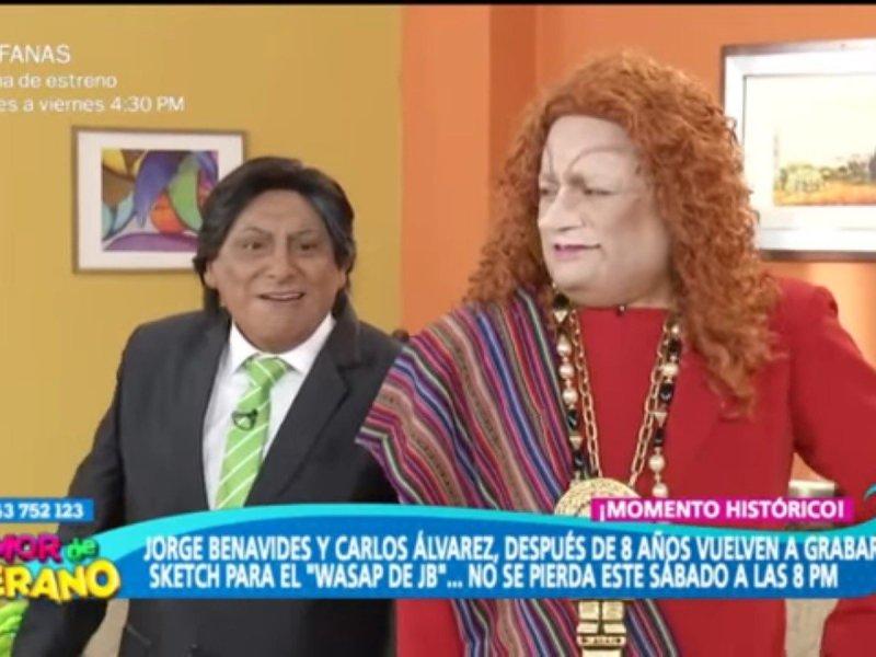 Jorge Benavides y Carlos Álvarez juntos después de 8 años graban para El Wasap de JB