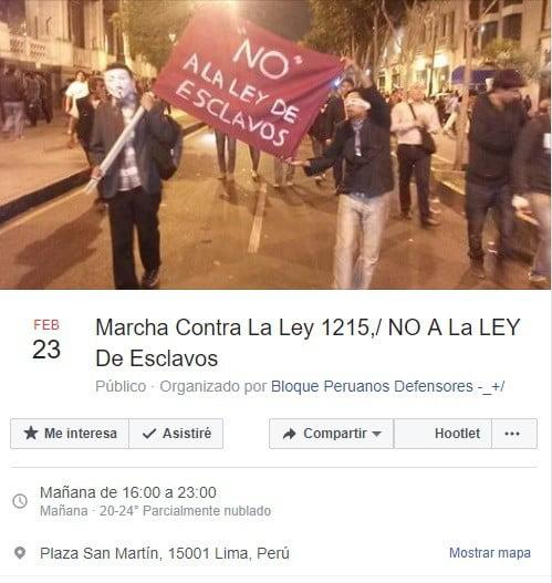 Convocan a marcha contra proyecto que busca legalizar las prácticas no remuneradas