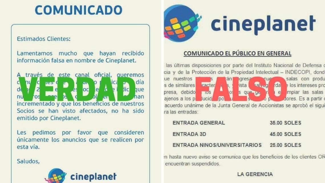 La aclaración de Cineplanet
