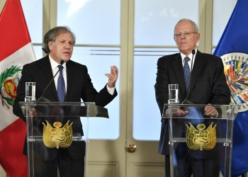 El presidente Kuczynski y Luis Almagro ofrecieron una declaración conjunta tras reunirse.