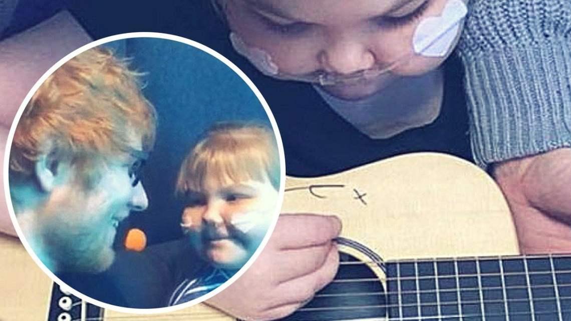 Ed Sheeran donó su guitarra para ayudar a niña de 11 años con ...