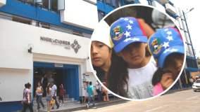 Niños venezolanos en Lima