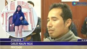 Carlos Hualpa confiesa ataque contra Eyvi Ágreda