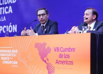 El presidente Vizcarra condenó junto con el Canciller Popolizio el uso de armas químicas, pero no el ataque de Estados Unidos.