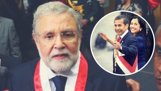 Ernesto Blume, Ollanta Humala y Nadine Heredia