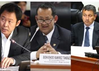 El Pleno del Congreso podría determinar el desafuero de Kenji Fujimori, Bienvenido Ramírez y Guillermo Bocángel