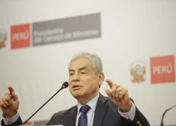 El premier Villanueva anunció que el gobierno apostará por el diálogo.