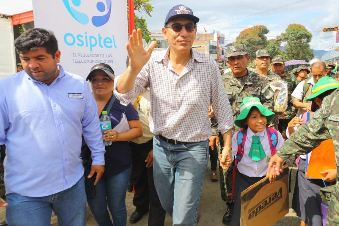 El presidente Vizcarra indicó que respeta la autonomía del Poder Judicial y del Congreso.