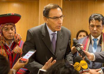 Martín Vizcarra declara a la prensa