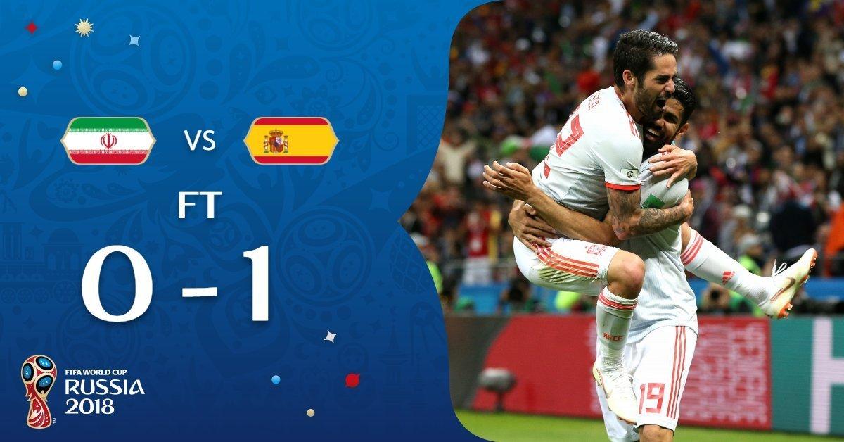 España se impuso 1-0 a Irán por el Mundial 2018 con gol de Diego Costa