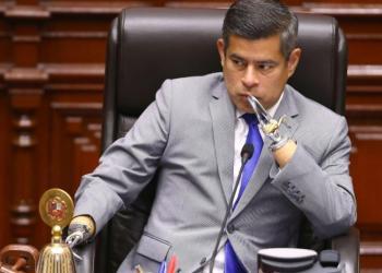 Luis Galarreta recibió el apoyo de las bancadas que integran la mesa directiva.