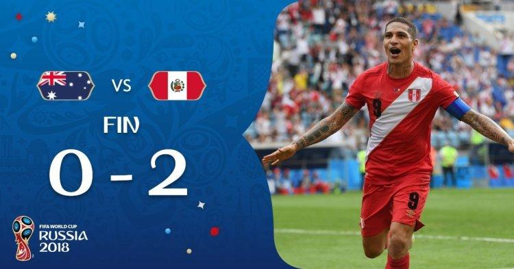 Perú derrotó 2-0 a Australia y se despide de Rusia 2018