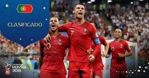 Portugal clasifica a octavos de final en Rusia 2018