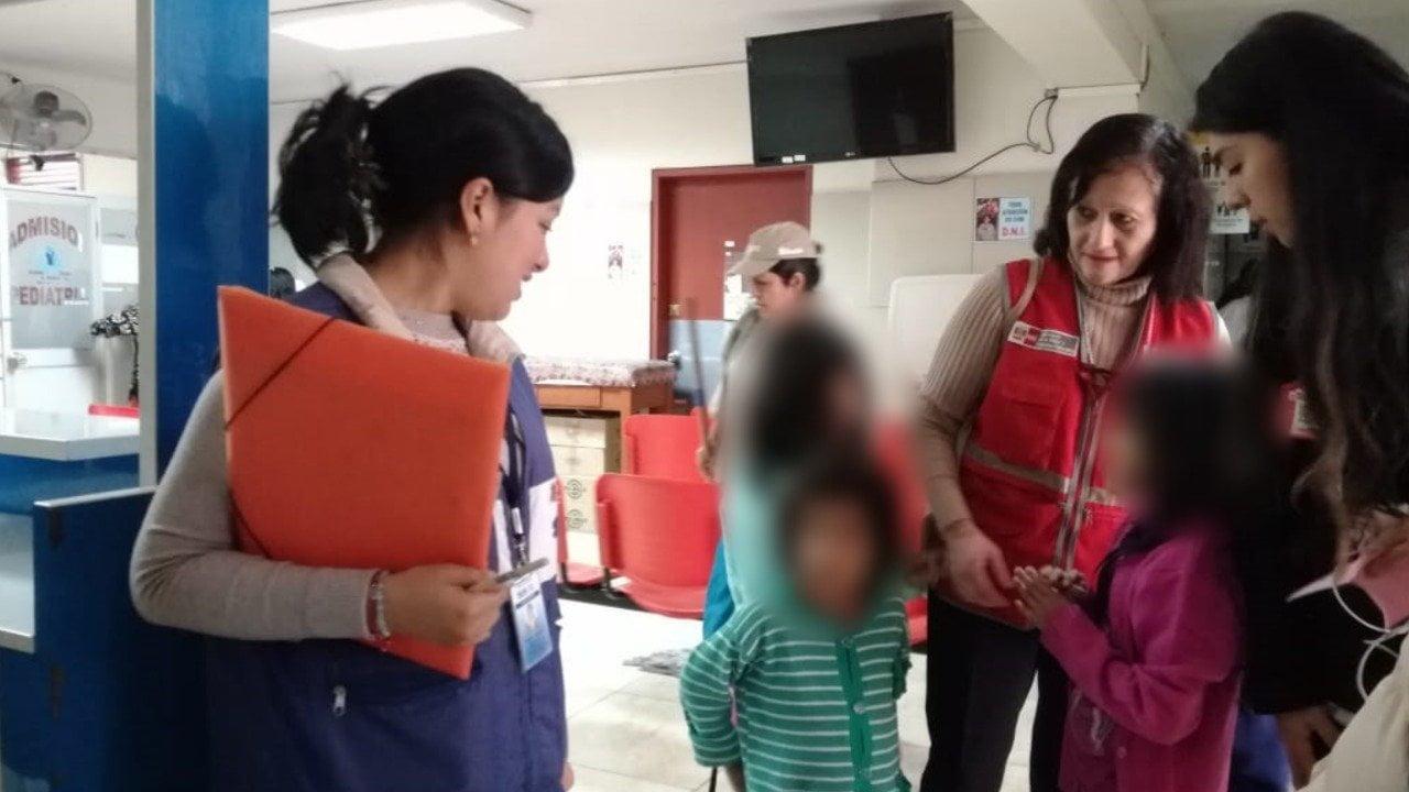 Médicos del Minsa brindan atención especializada a hijos de mujeres que fueron retenidas por una secta