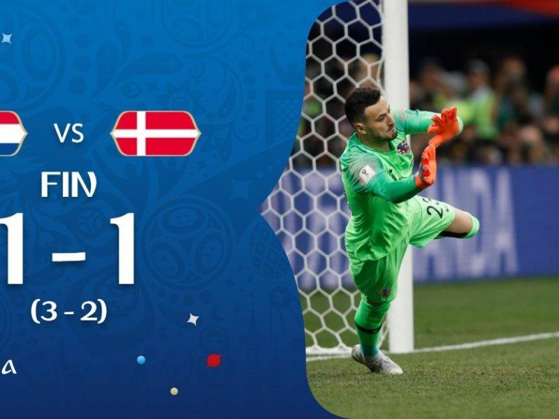 Penales entre Croacia vs Dinamarca