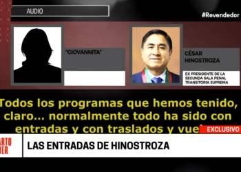César Hinostroza nuevo audio