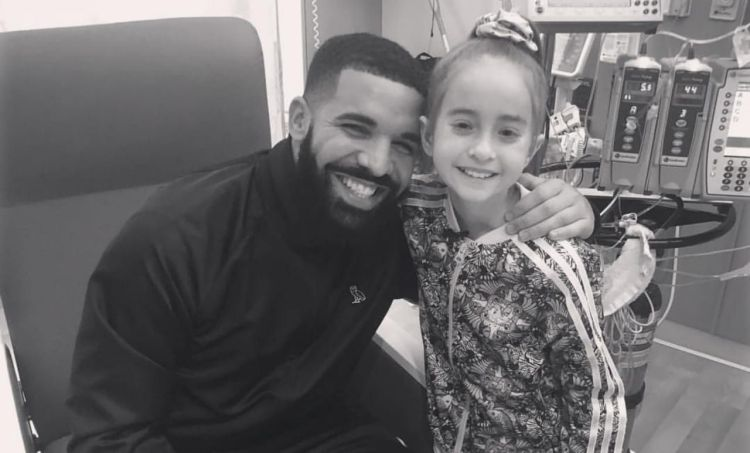 Drake y pequeña Sofía de 11 años