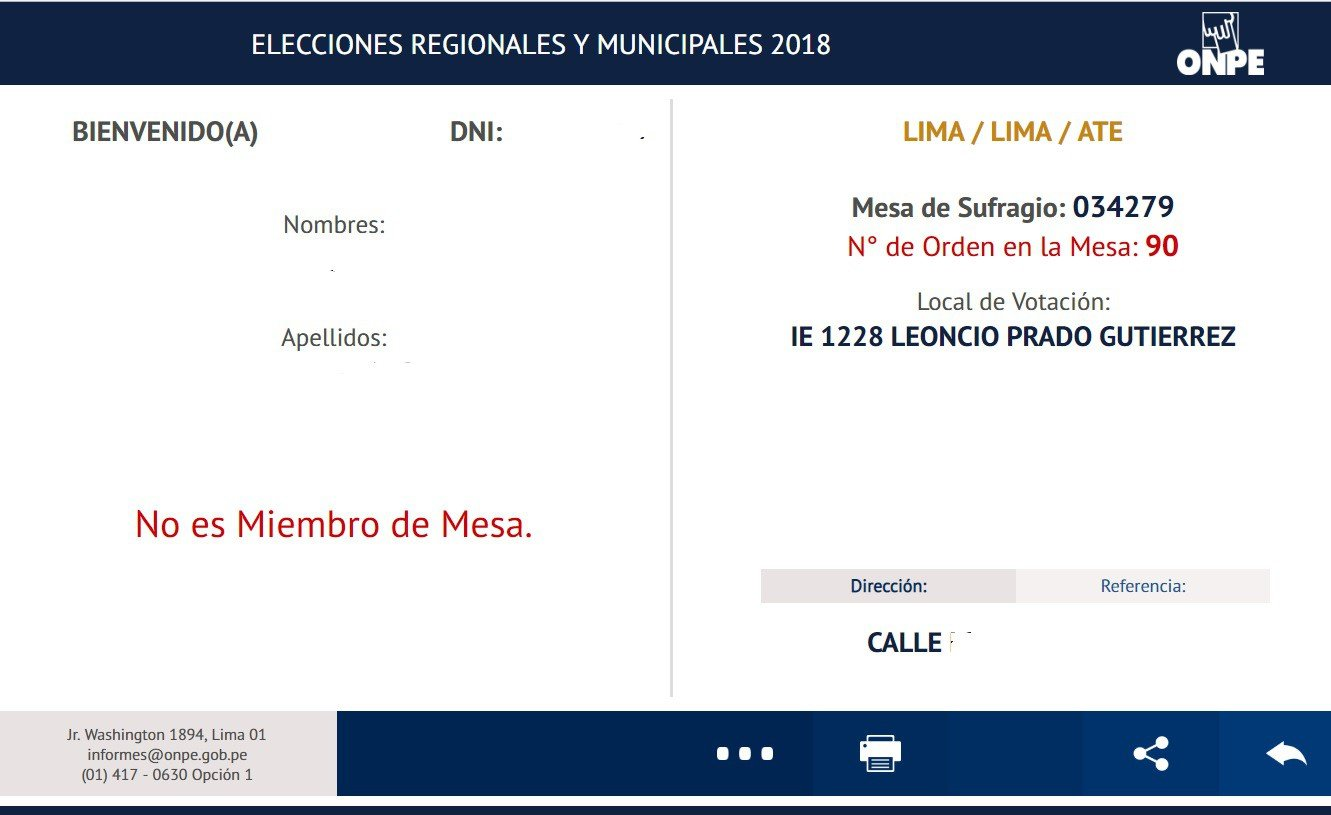 Ficha con datos Donde votar