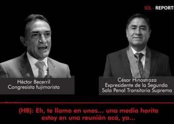 Héctor Becerril y César Hinostroza