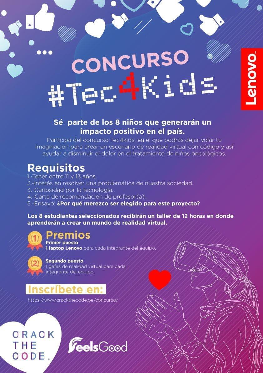 #Tec4Kids: Niños peruanos usarán realidad virtual contra el cáncer