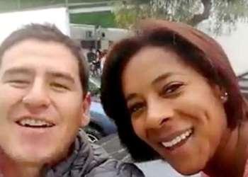 Leyla Chihuán y Piero Brescia en Facebook