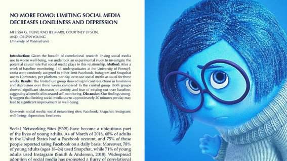 Limitar uso de Facebook, Instagram y Snapchat reduce depresión y soledad