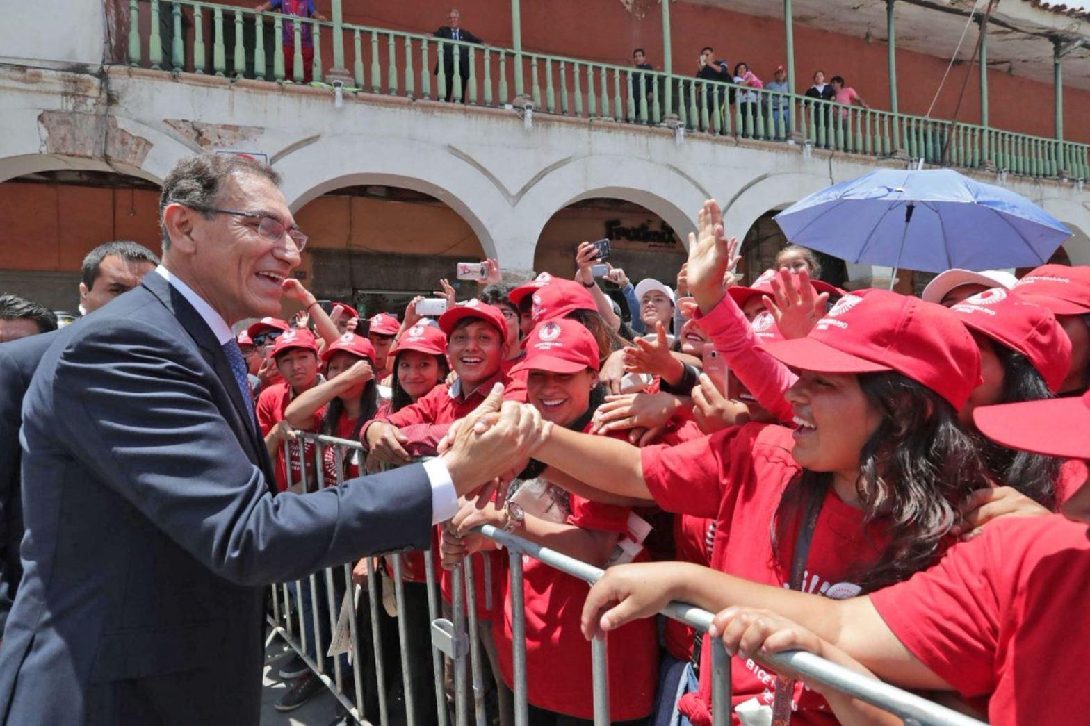 Martín Vizcarra en Ayacucho