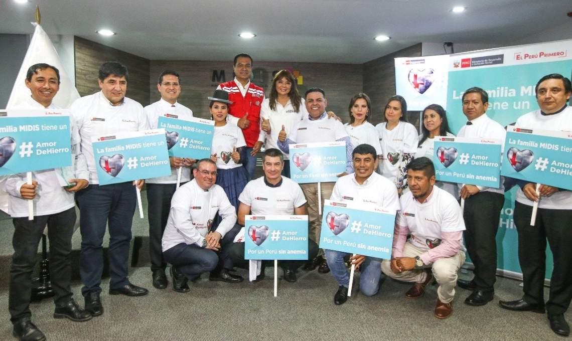 Midis nombró embajadores de Lucha contra la Anemia en el Perú
