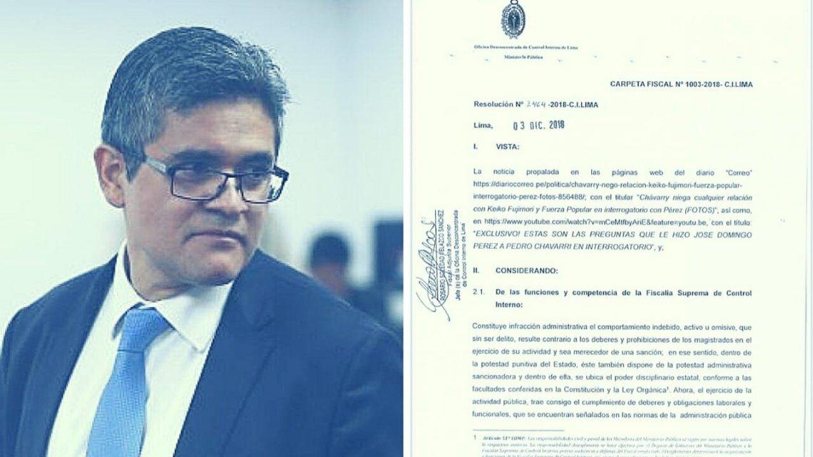 José Domingo Pérez con proceso disciplinario por presunta filtración