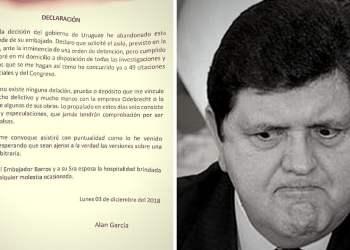 """Alan García envía carta tras frustrado asilo: """"estaré en mi domicilio"""""""