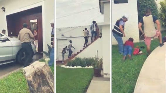 Video | Así capturaron a venezolanos que asaltaban residencia en Trujillo