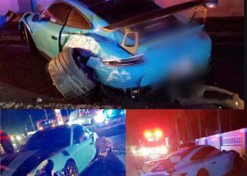 Ozuna sufrió accidente: así quedó el auto del cantante de reggaetón