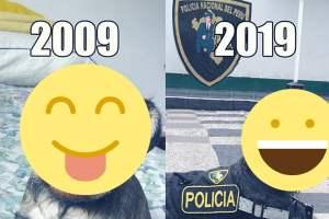 El 10 Years Challenge de una perrita de la policía que se viralizó en Facebook