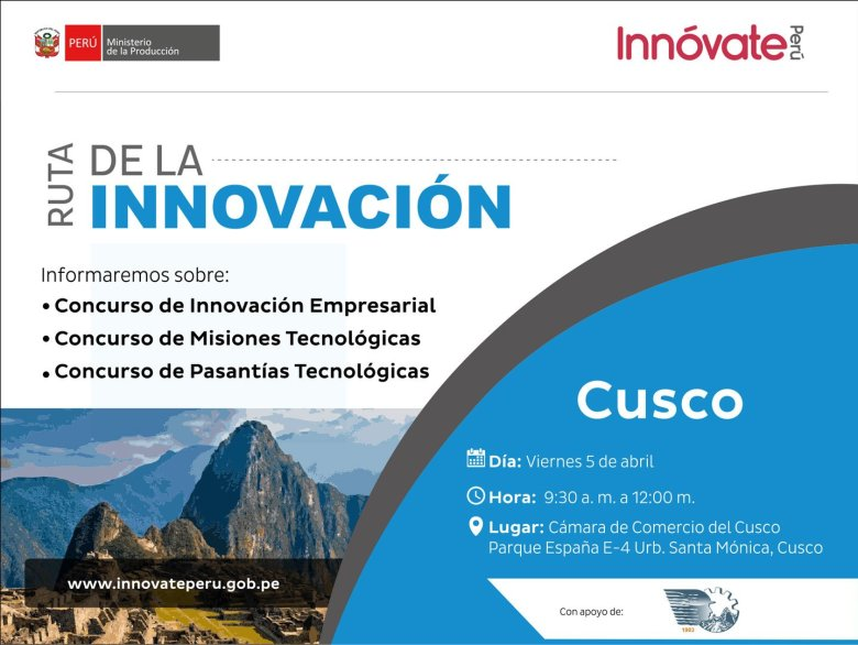 Proyectos de innovación tecnológica en el Cusco serán cofinanciados