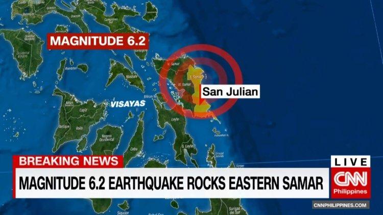Nuevo terremoto en Filipinas de 6.2 grados sacude Samar Oriental