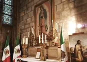 La Virgen de Guadalupe se salvó tras incendio en Notre Dame