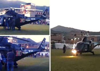 Accidente de helicóptero deja dos muertos y dos heridos en Amazonas