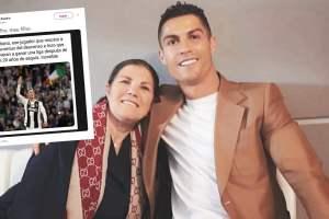 Mamá de Cristiano Ronaldo causó furor en redes sociales con blooper