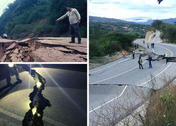 Terremoto en Perú: Enormes grietas en carreteras de Cajamarca y Tarapoto