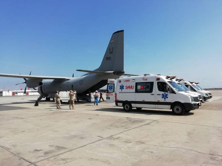 Minsa y FAP trasladaron vía aérea a cinco recién nacidos en estado crítico