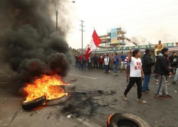 Nueva marcha contra el peaje se realiza en Puente Piedra
