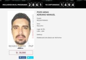 Adriano Pozo en los más buscados