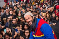 Comic Con Lima con Asher Angel de Shazam y Stefan Kapičić de Deadpool